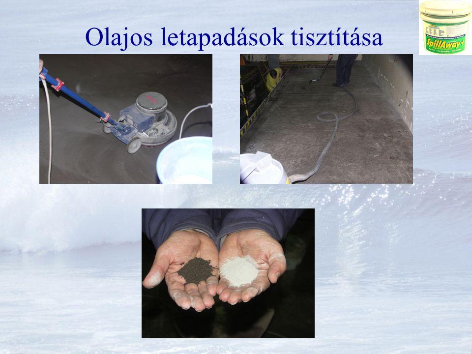 Olajos letapadások tisztítása