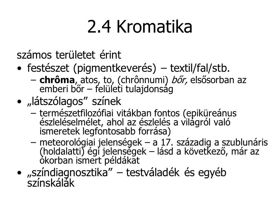 2.4 Kromatika számos területet érint