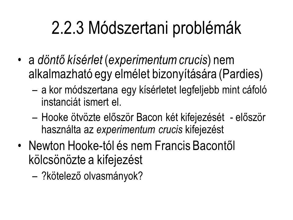 2.2.3 Módszertani problémák