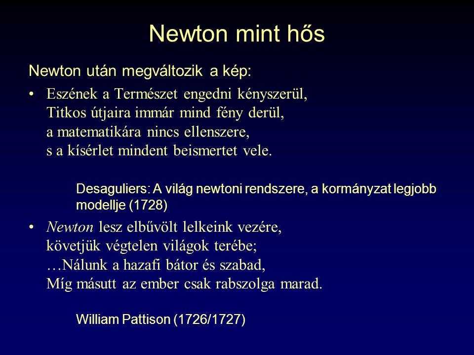 Newton mint hős Newton után megváltozik a kép: