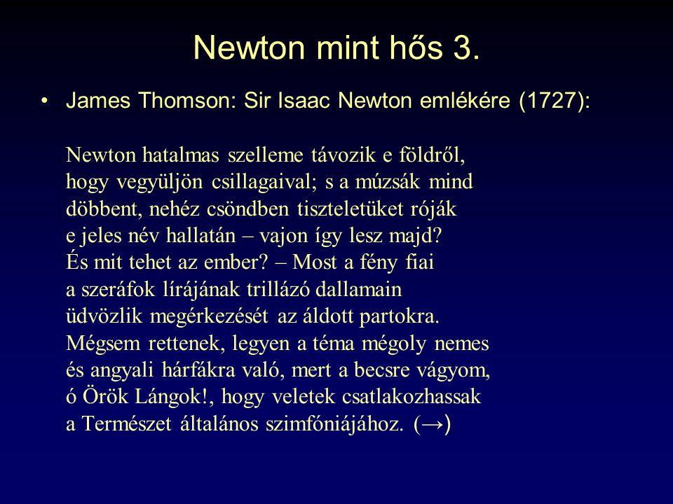 Newton mint hős 3.
