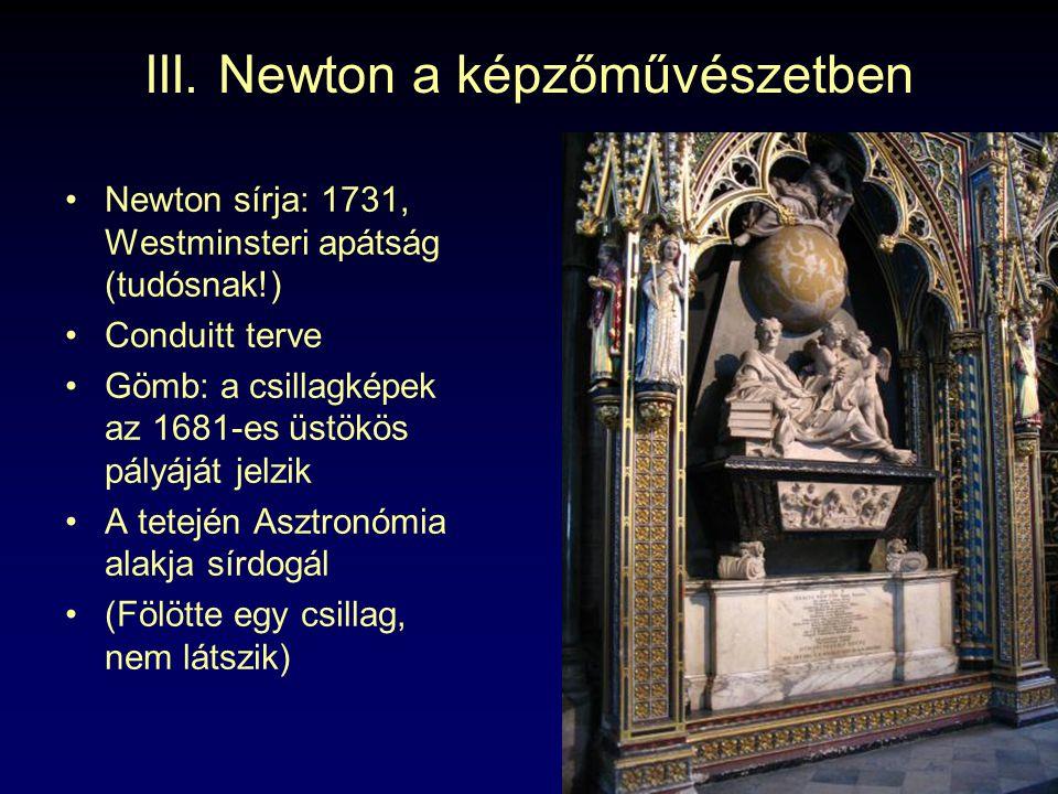 III. Newton a képzőművészetben