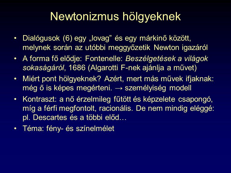 Newtonizmus hölgyeknek