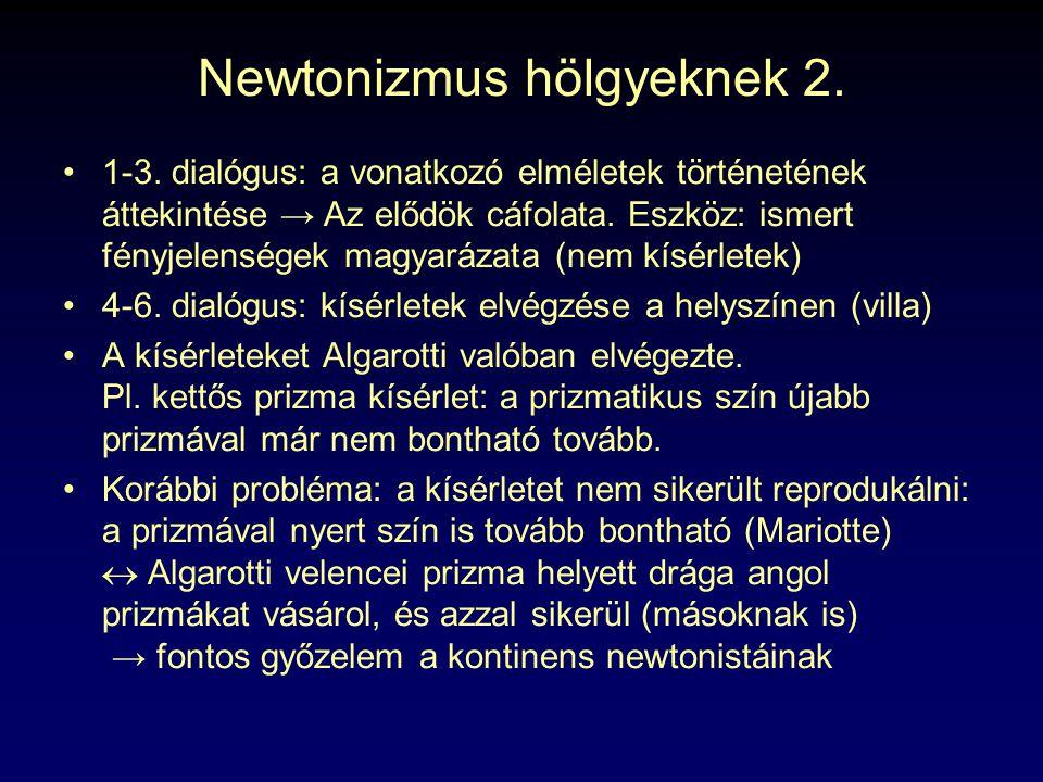 Newtonizmus hölgyeknek 2.