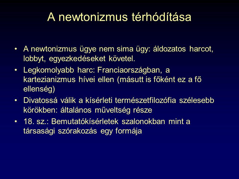 A newtonizmus térhódítása