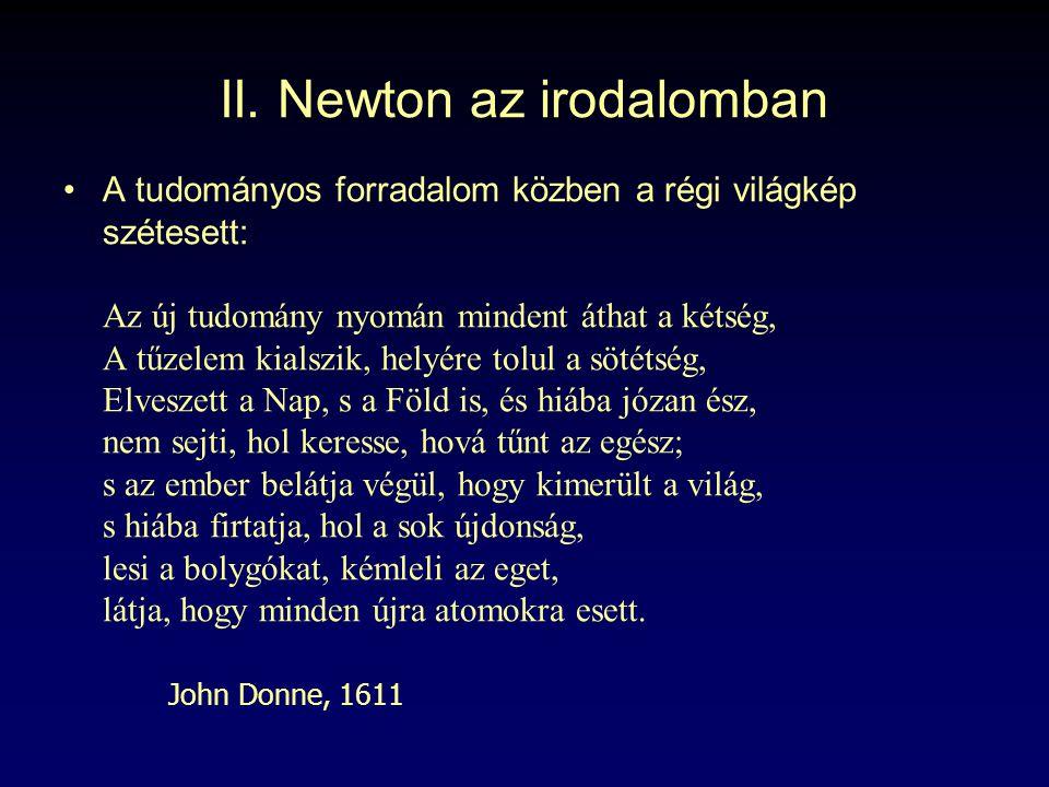 II. Newton az irodalomban
