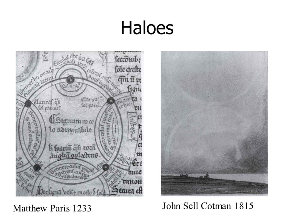 Haloes John Sell Cotman 1815 Matthew Paris 1233