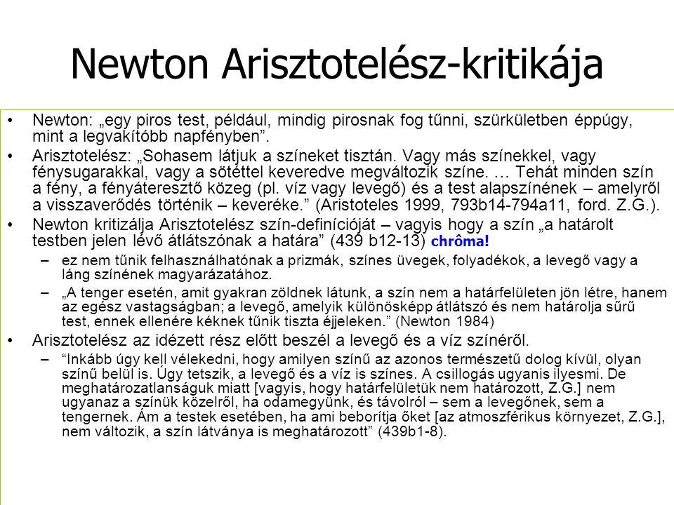 Newton Arisztotelész-kritikája