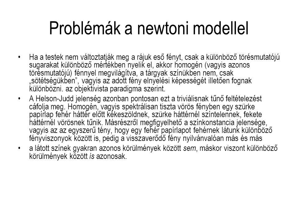 Problémák a newtoni modellel