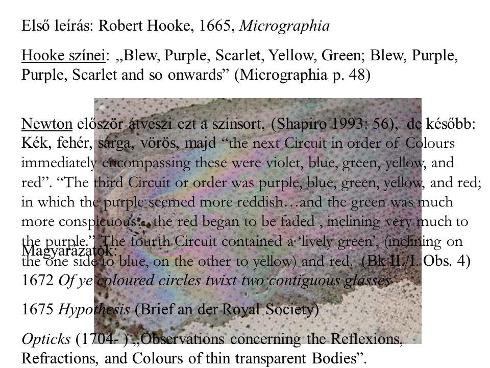 Első leírás: Robert Hooke, 1665, Micrographia