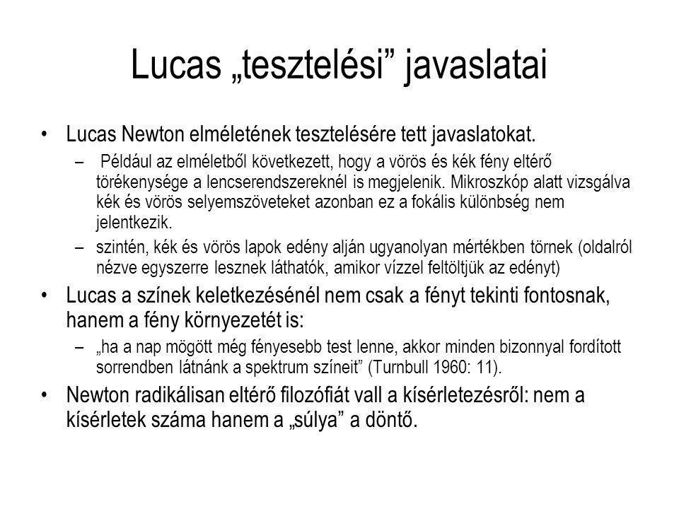"Lucas ""tesztelési javaslatai"