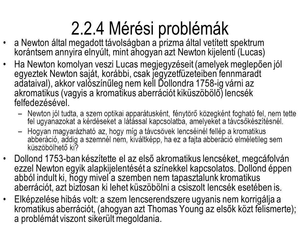 2.2.4 Mérési problémák