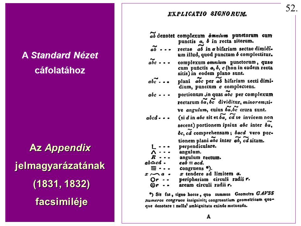 Az Appendix jelmagyarázatának (1831, 1832) facsimiléje