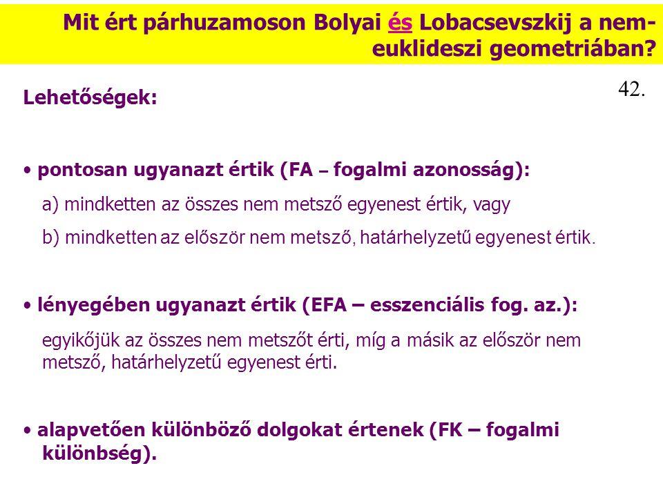 Mit ért párhuzamoson Bolyai és Lobacsevszkij a nem-euklideszi geometriában