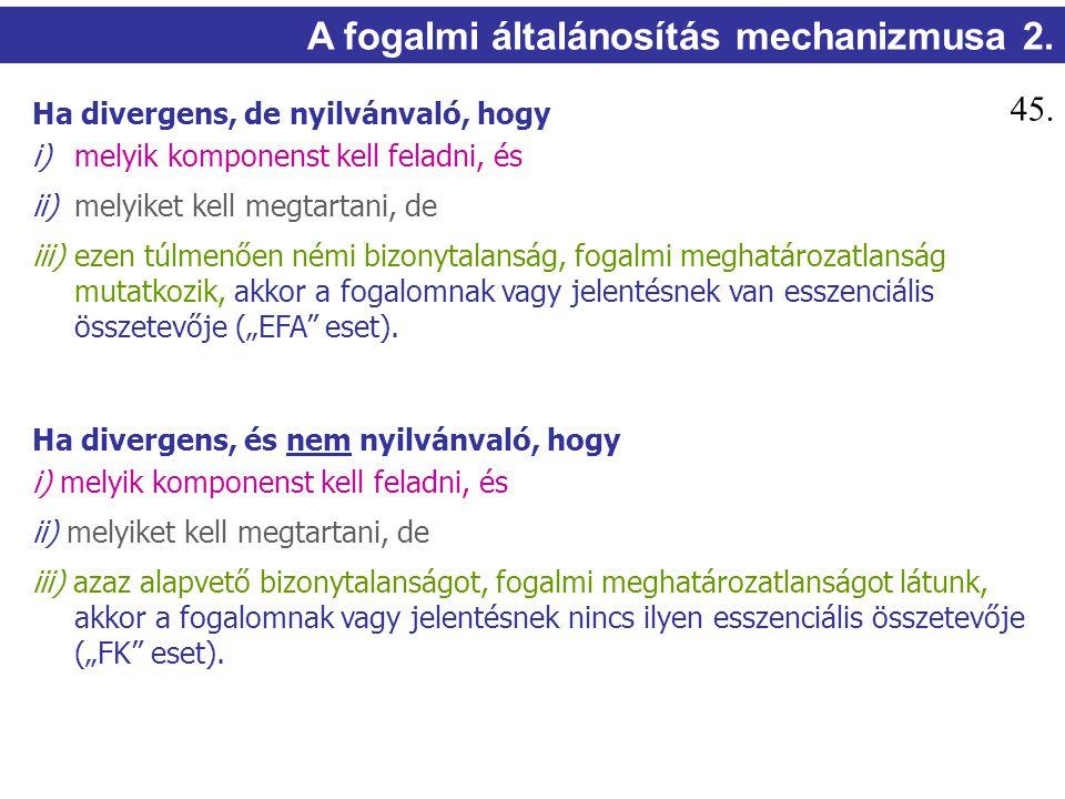 A fogalmi általánosítás mechanizmusa 2.