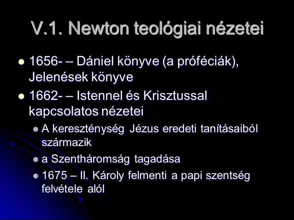 V.1. Newton teológiai nézetei