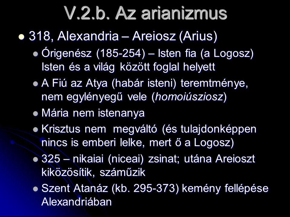 V.2.b. Az arianizmus 318, Alexandria – Areiosz (Arius)
