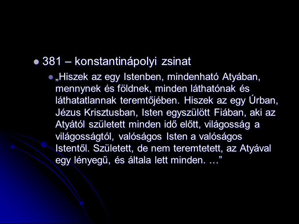 381 – konstantinápolyi zsinat