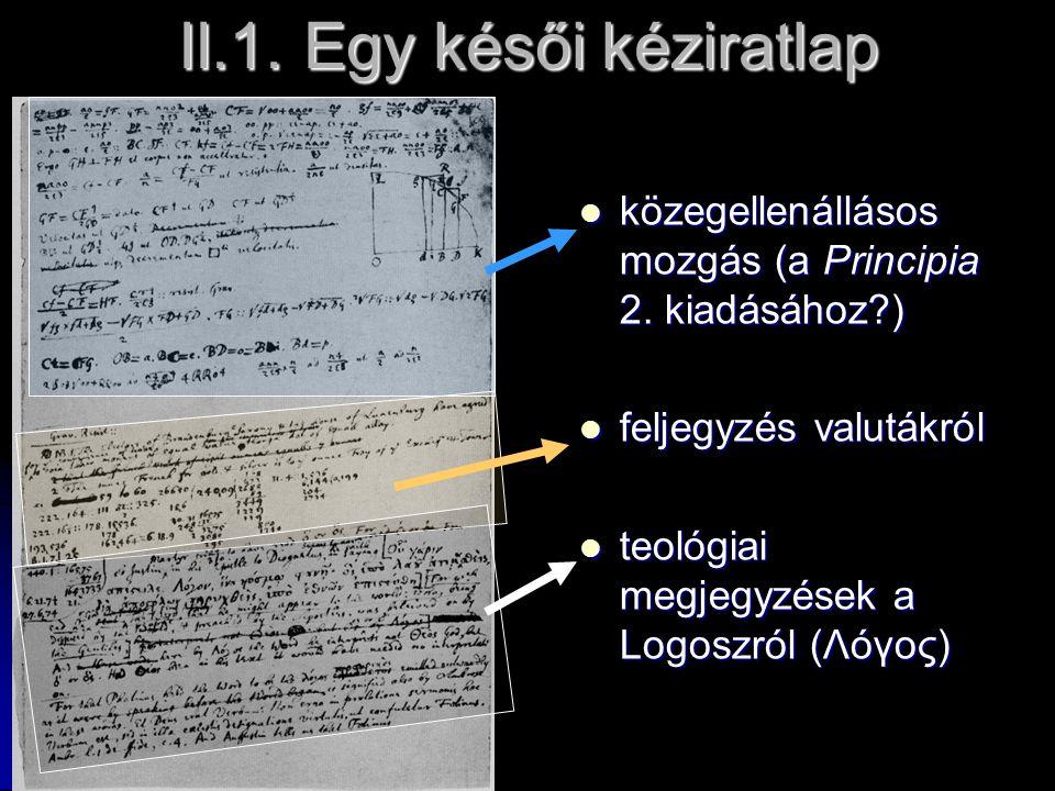 II.1. Egy késői kéziratlap
