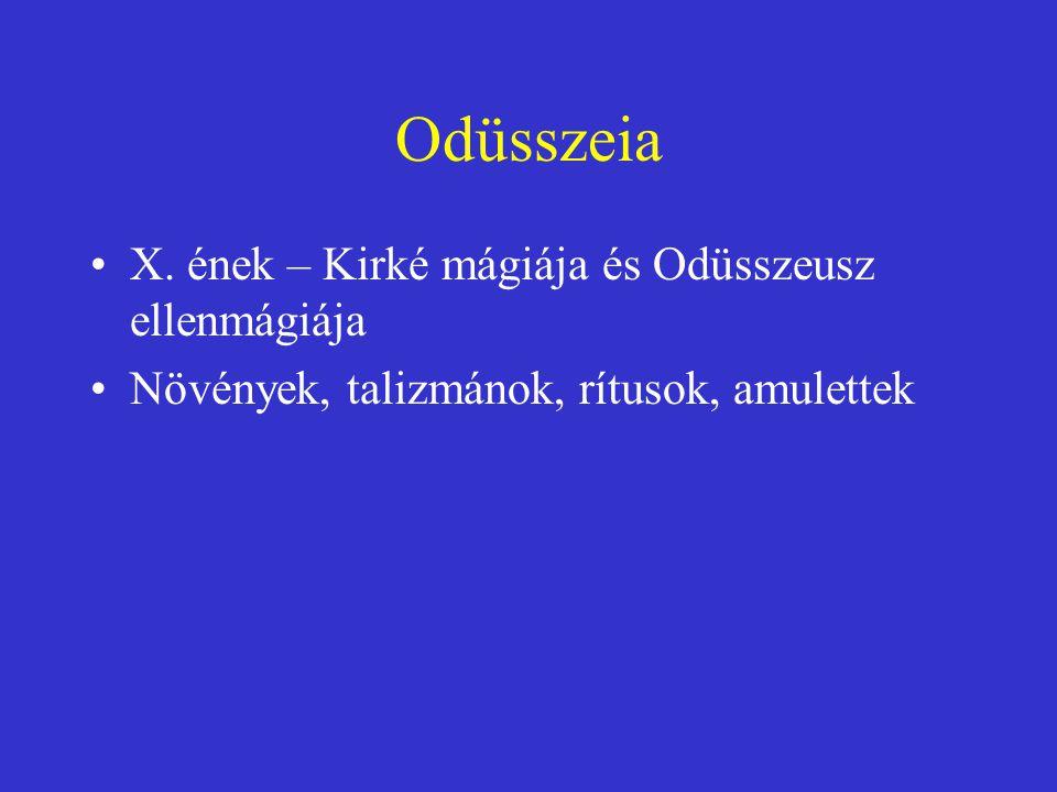 Odüsszeia X. ének – Kirké mágiája és Odüsszeusz ellenmágiája