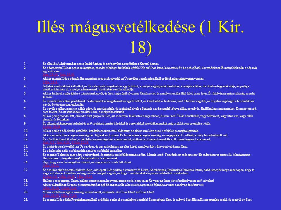 Illés mágusvetélkedése (1 Kir. 18)