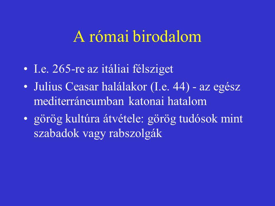 A római birodalom I.e. 265-re az itáliai félsziget