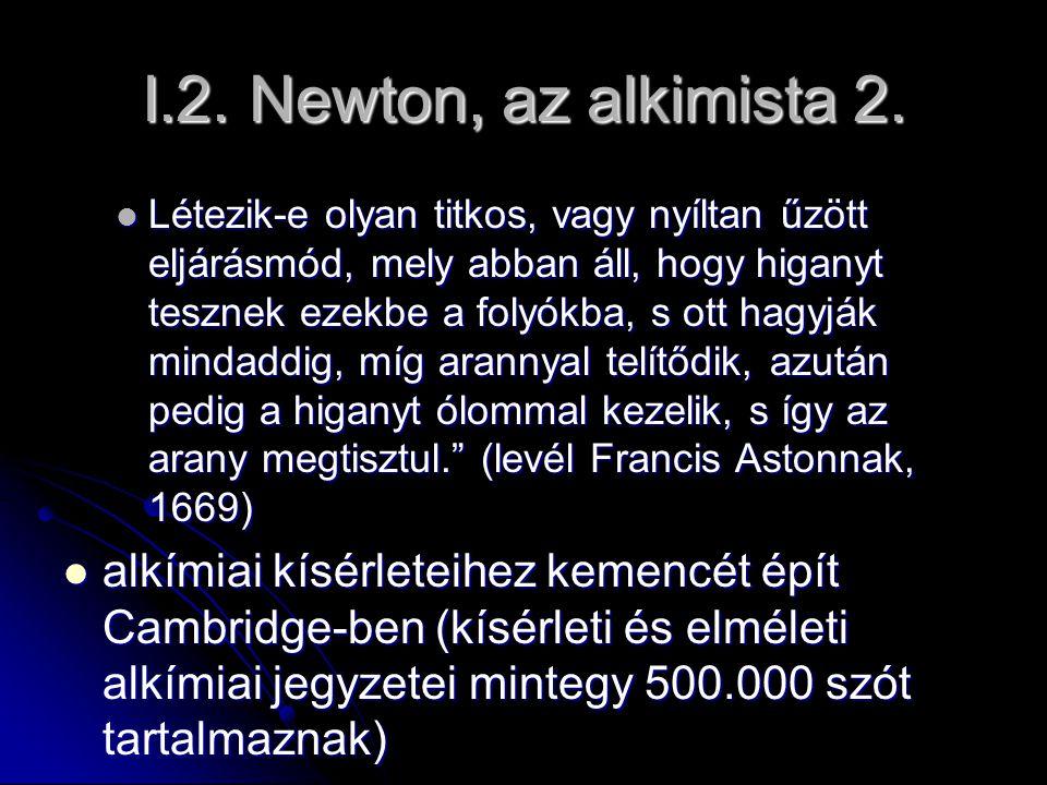 I.2. Newton, az alkimista 2.