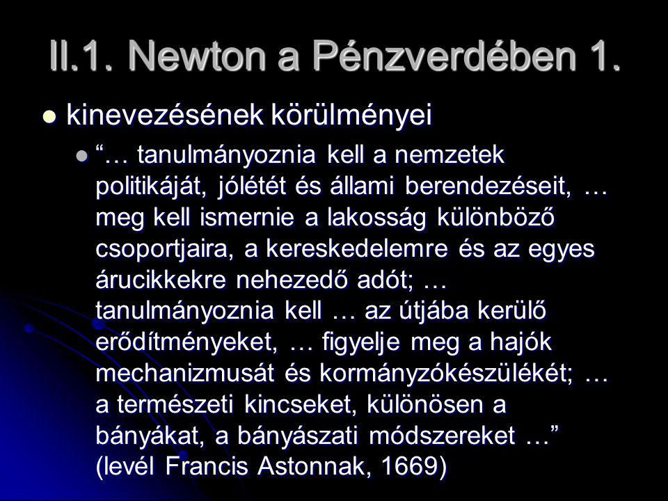 II.1. Newton a Pénzverdében 1.