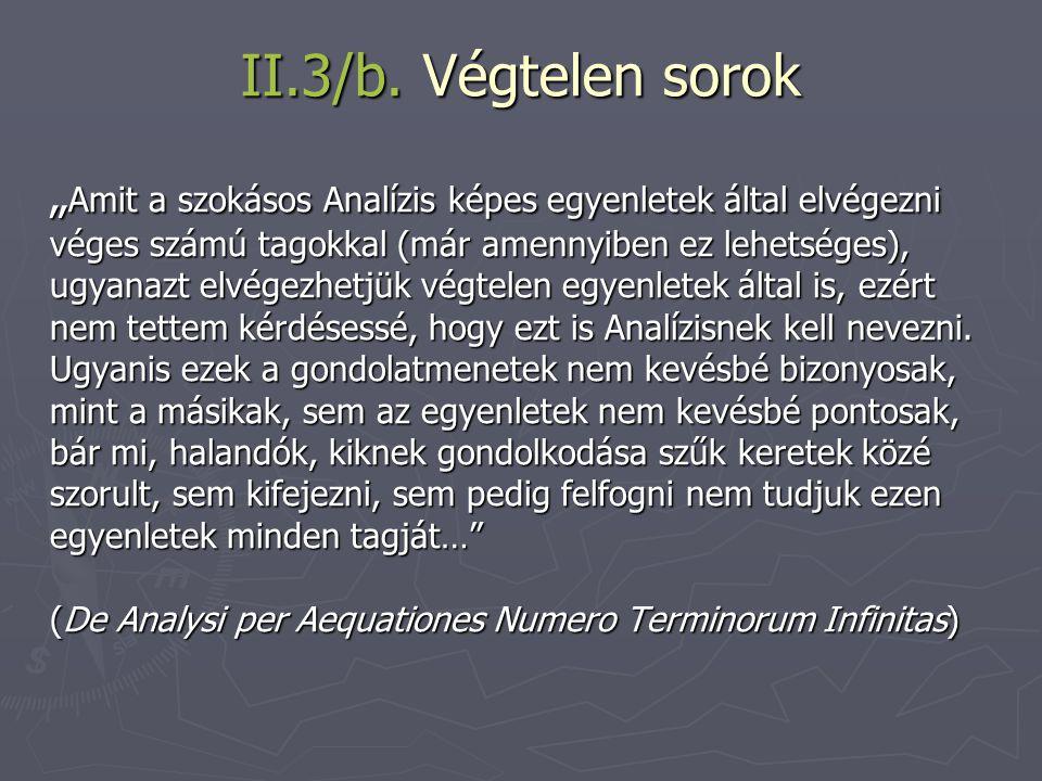 II.3/b. Végtelen sorok