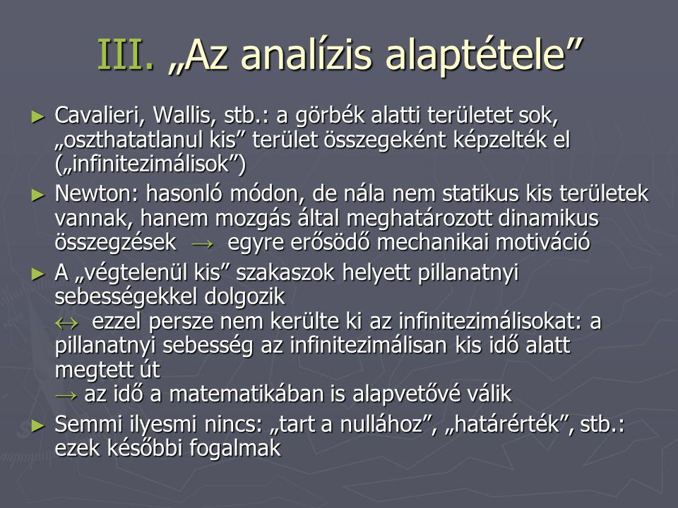 """III. """"Az analízis alaptétele"""