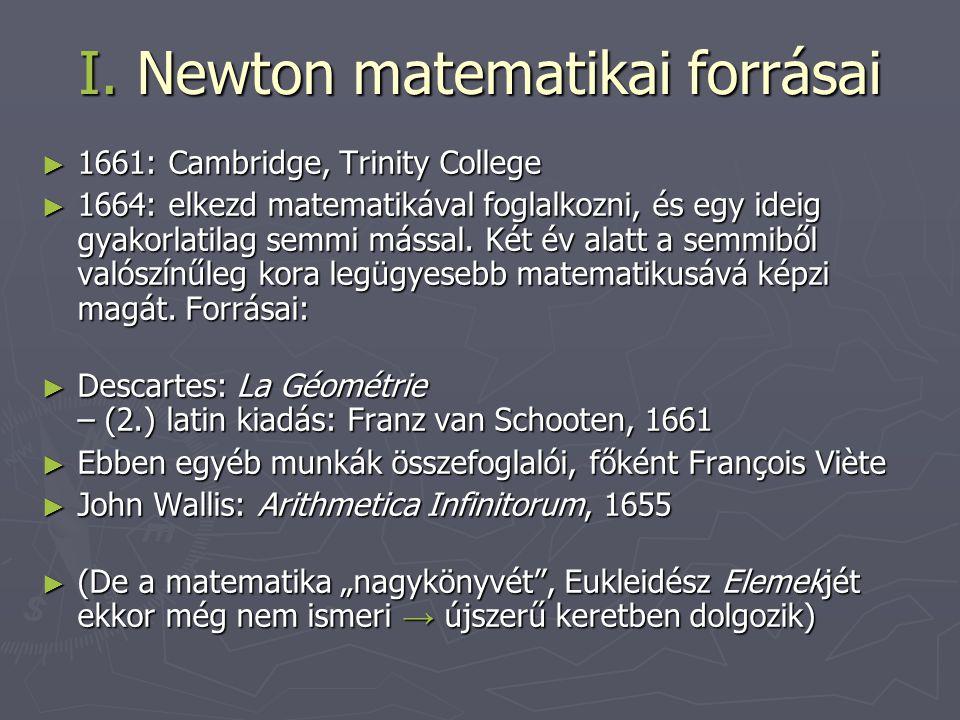 I. Newton matematikai forrásai