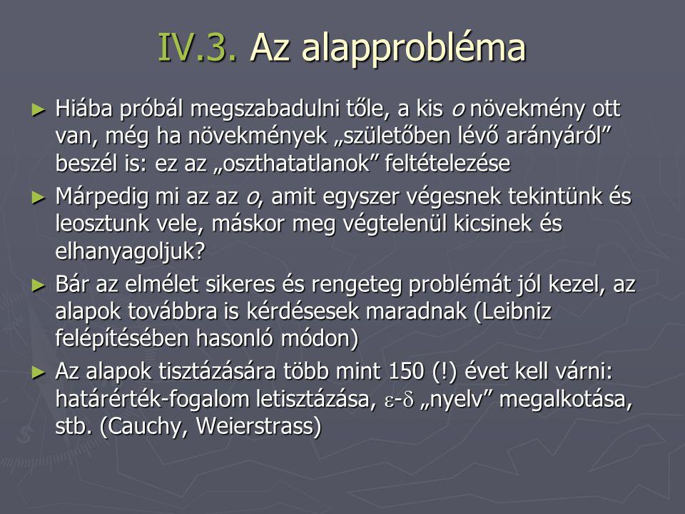 IV.3. Az alapprobléma