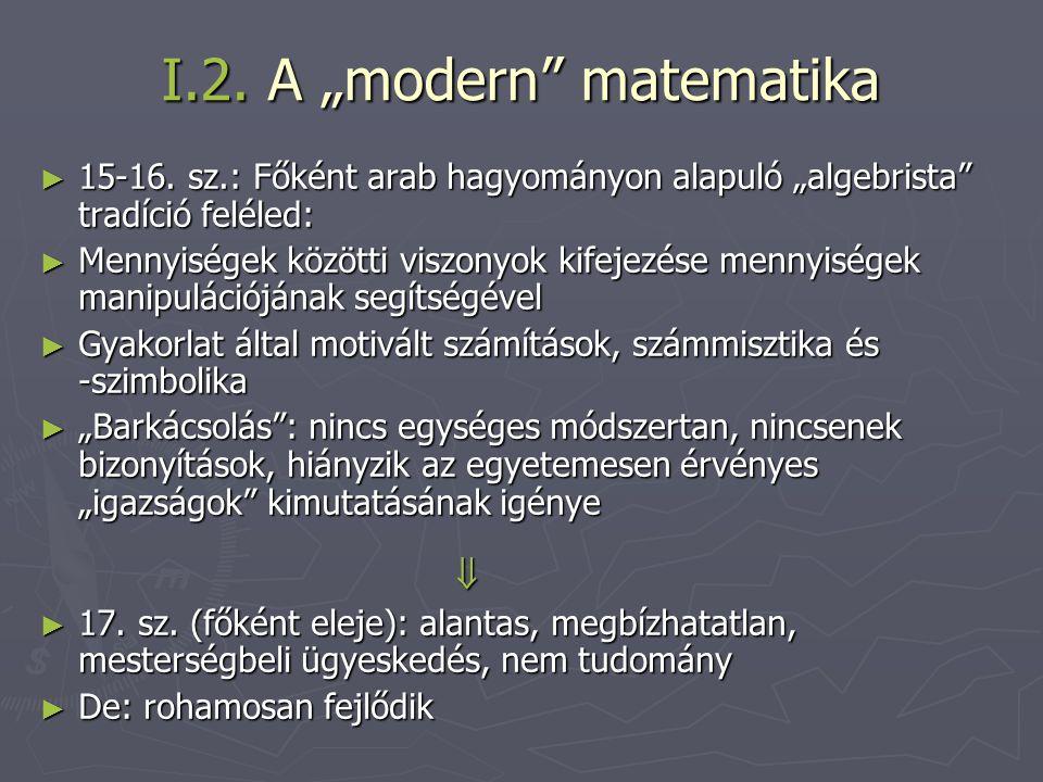 """I.2. A """"modern matematika"""