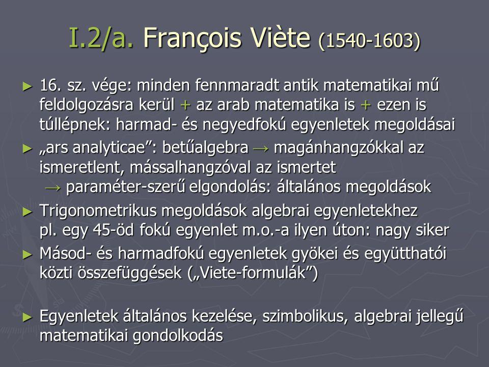 I.2/a. François Viète (1540-1603)
