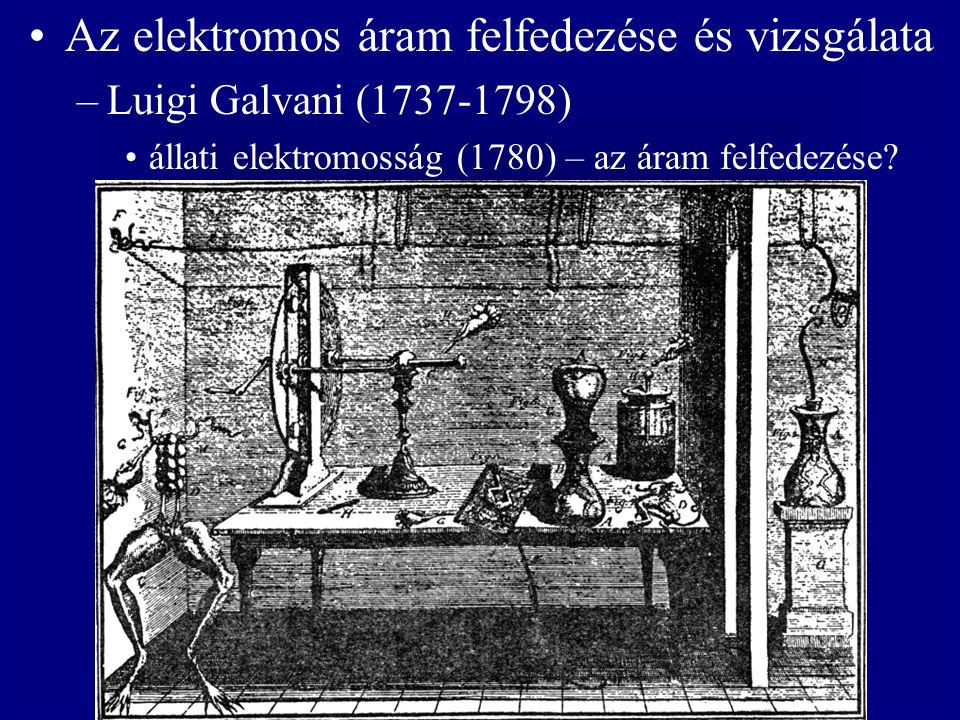 Az elektromos áram felfedezése és vizsgálata