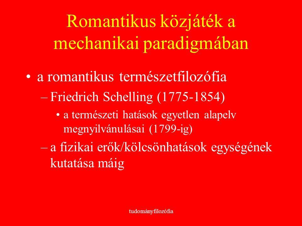 Romantikus közjáték a mechanikai paradigmában