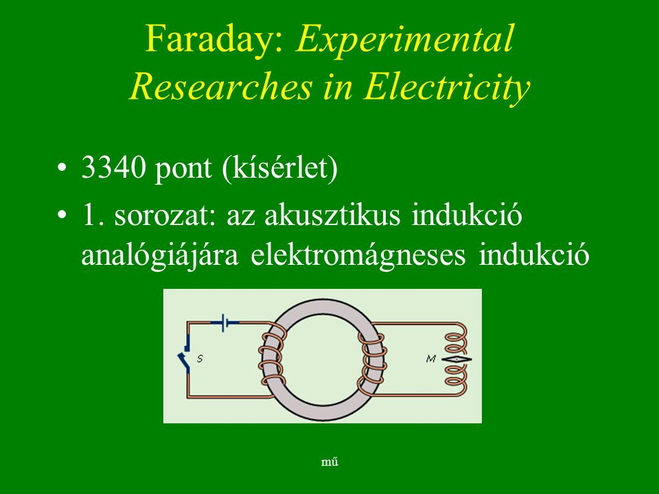 Faraday: Experimental Researches in Electricity
