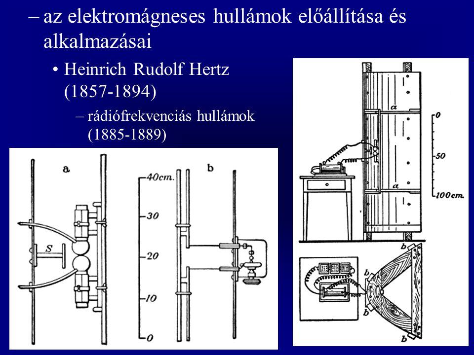 az elektromágneses hullámok előállítása és alkalmazásai