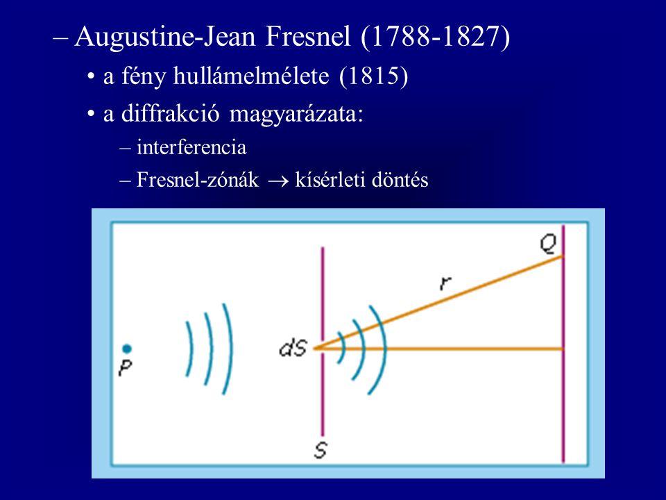 Augustine-Jean Fresnel (1788-1827)