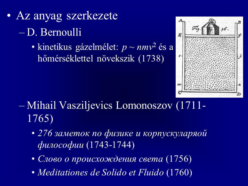 Az anyag szerkezete D. Bernoulli