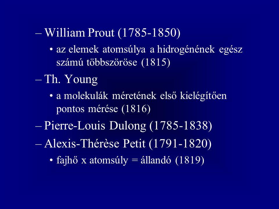 Pierre-Louis Dulong (1785-1838) Alexis-Thérèse Petit (1791-1820)