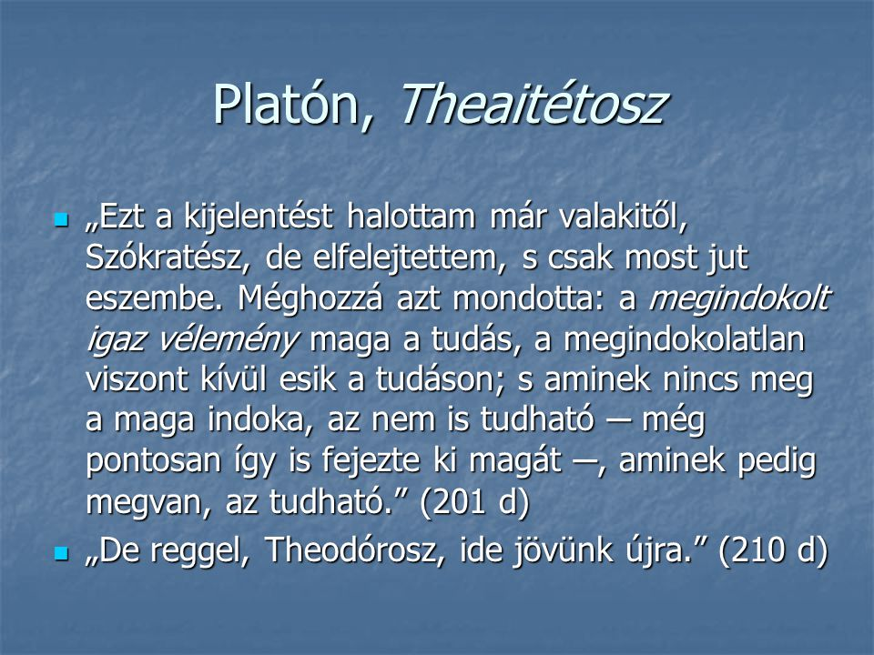 Platón, Theaitétosz