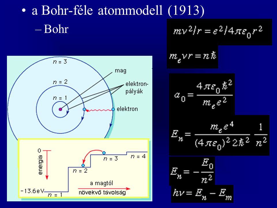 a Bohr-féle atommodell (1913)