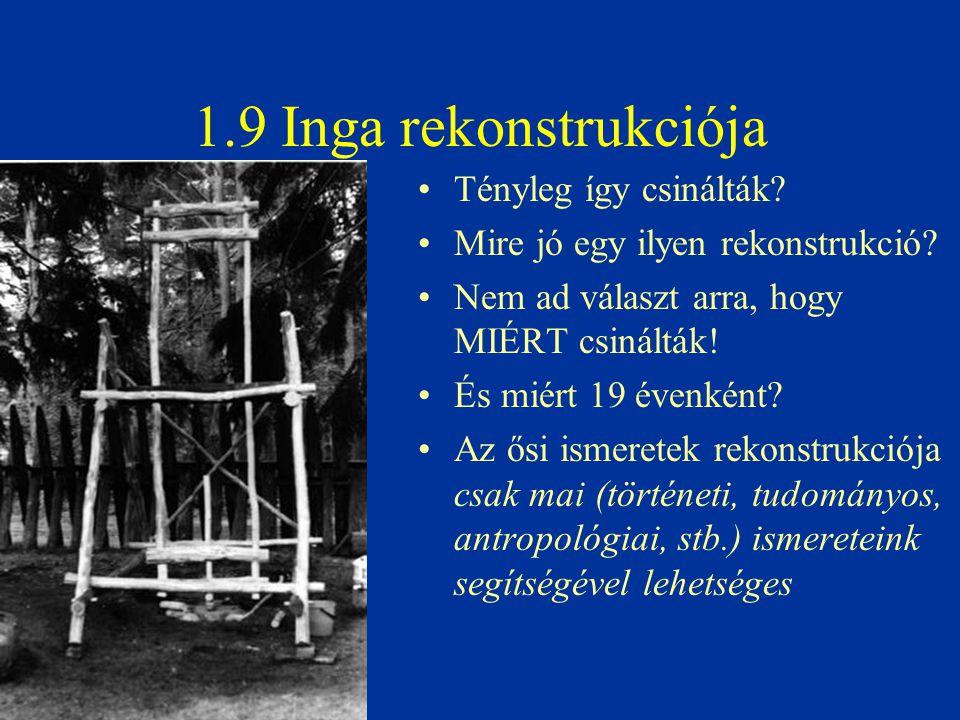 1.9 Inga rekonstrukciója Tényleg így csinálták