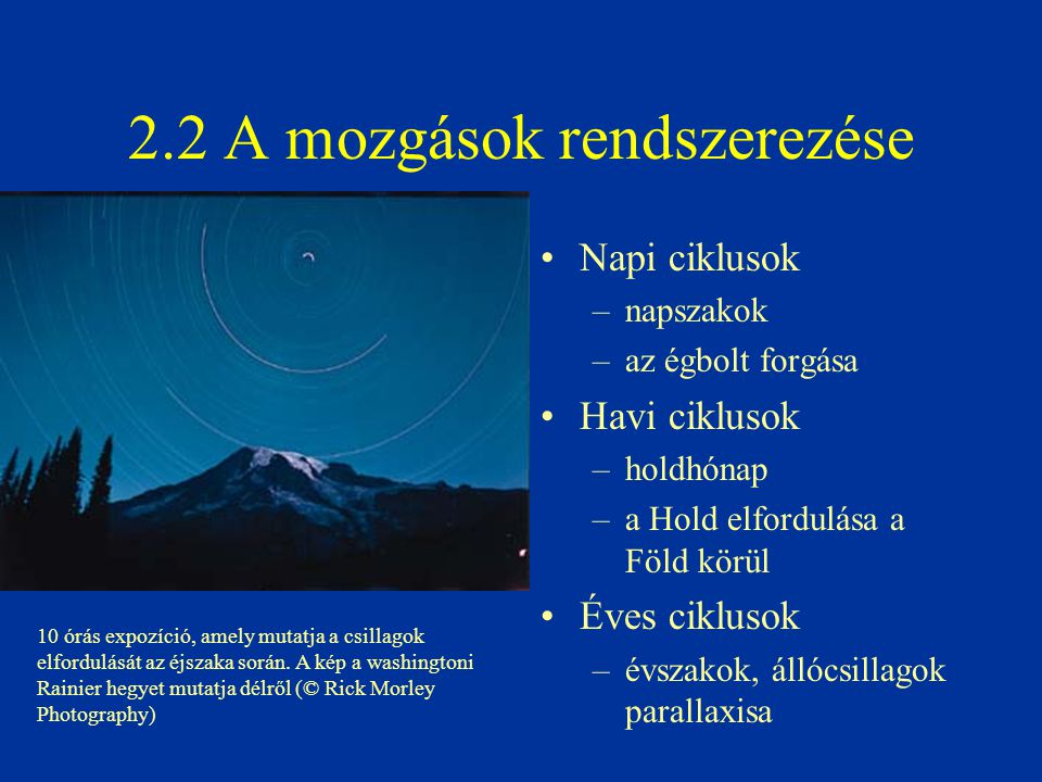 2.2 A mozgások rendszerezése