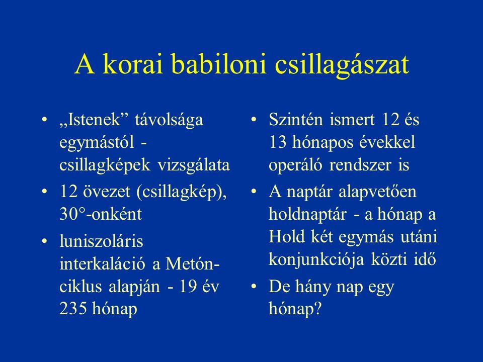A korai babiloni csillagászat
