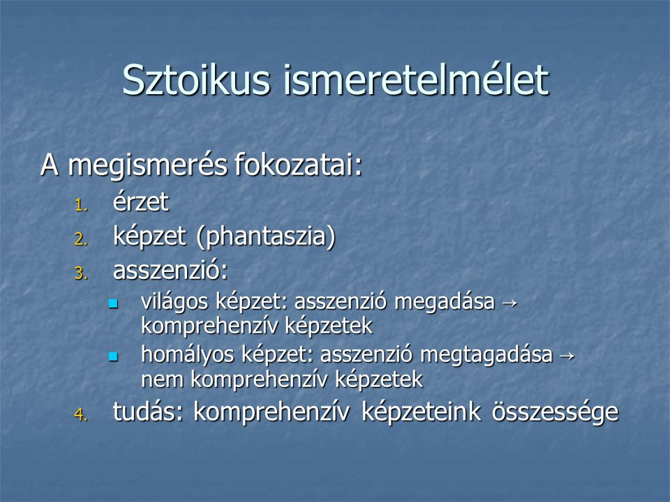 Sztoikus ismeretelmélet