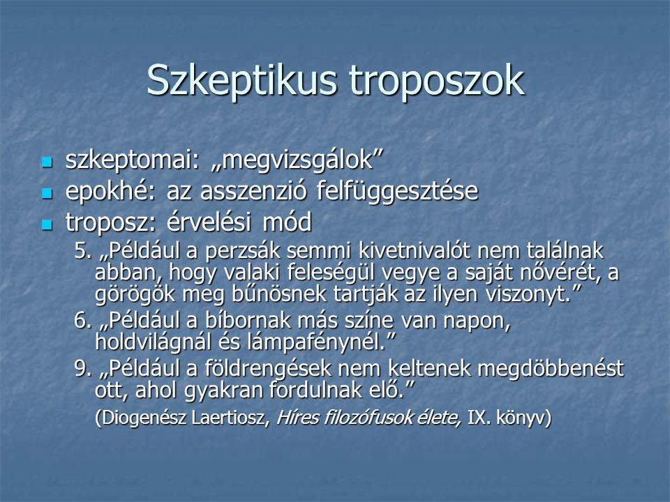 """Szkeptikus troposzok szkeptomai: """"megvizsgálok"""