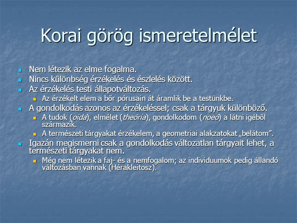 Korai görög ismeretelmélet