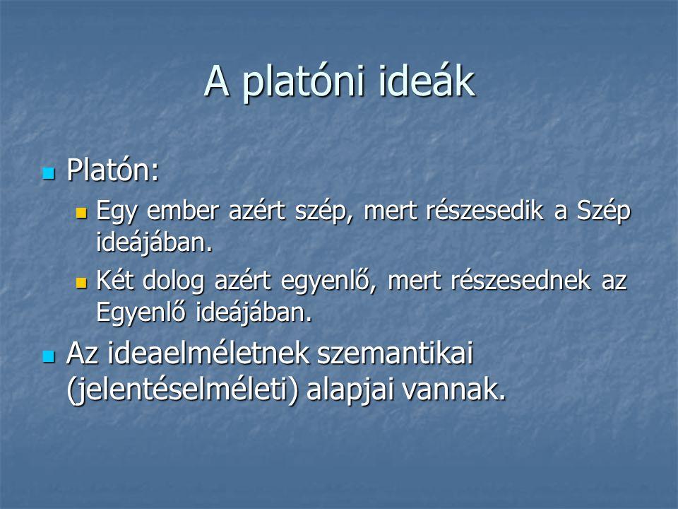 A platóni ideák Platón:
